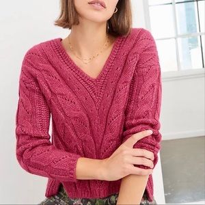 NWT Anthropologie Ramona Cable Knit Sweater